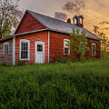 Little Red School House by Roger Monahan