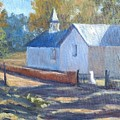 Little White Church In New Mexico by Candi Hogan