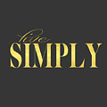 Live Simply Gold Gray by Voros Edit
