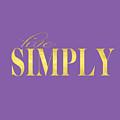 Live Simply Gold Lavender by Voros Edit