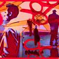 Living Cutouts Drifting Into The Spirit World/we Are All Born Asleep by Tony Adamo