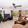 Living Room At Christmas by Darren Burton