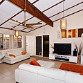 Living Room With Sloping Ceiling by Darren Burton