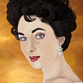 Liz Taylor by Lois Boyce