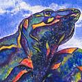 Lizard In The Desert 2 by Tamara Kulish