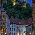 Ljubljana Night Scene - Slovenia by Stuart Litoff