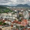 Ljubljana Slovenia With Karawanks, Kamnik Savinja, Limestone Alp by Reimar Gaertner