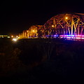 Llano Bridge At Night by James Smullins