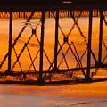 Llano Bridge Reflection by James Smullins