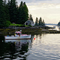 Lobster Boat And Clearing Skies, Port Clyde, Maine #30806 by John Bald