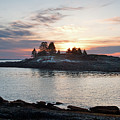 Lobster Boat At Dawn, New Harbor, Maine #8200-8203 by John Bald