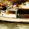Lobster Boat Stonington Ct by Gary Nelson