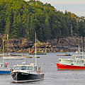 Lobster Boats In Bar Harbor by Jack Schultz