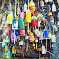 Lobster Buoys And Nets - Maine by Steven Ralser