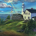 Lobster Cove Head Lighthouse, Rocky Harbour, Nl by Kimberly Ropson