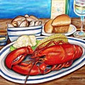 Lobster Dinner by Patricia L Davidson