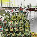Lobster Pots Kilmore Quay, Wexford, Ireland, Poster Effect 1a by Zsuzsanna Szabo