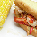 Lobster Roll And Corn On The Cob by Edward Fielding