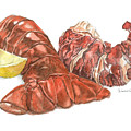 Lobster Tail And Meat by Dominic White