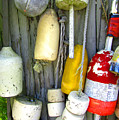 Lobster Trap Buoys 2 by Mark Sellers