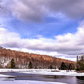 Lock And Dam Snowscape by David Patterson