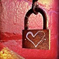 Lock/heart by Julie Gebhardt