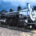 Locomotive 495 A Romantic View by JG Thompson