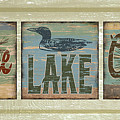 Lodge Lake Cabin Sign by JQ Licensing
