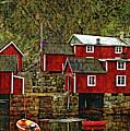Lofoten Fishing Huts Overlay Version by Steve Harrington