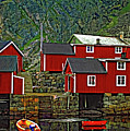 Lofoten Fishing Huts by Steve Harrington