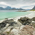 Lofoten Island Beach Scene by Timothy Hacker