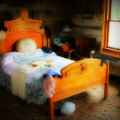 Log Cabin Bedroom by Perry Webster