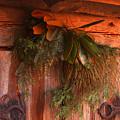 Log Cabin Christmas Decor by Jason Wade