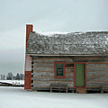 Log Cabin In The Snow by David Arment