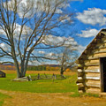 Log Cabin Valley Forge Pa by David Zanzinger