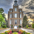 Logan L D S Temple 2 by Donna Kennedy