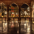 Loggia Del Lionello At Christmas Time by Wolfgang Stocker
