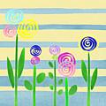 Lollipop Flower Bed by Irina Sztukowski