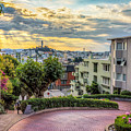 Lombard Street In San Francisco by James Udall