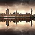 London - The Houses Of Parliament  by Jaroslaw Grudzinski