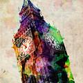London Big Ben Urban Art by Michael Tompsett