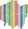 London Boroughs Map - Rainbow by Gary Hogben