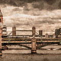 London, England - London Bridges by Mark Forte