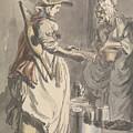 London Cries - A Milkmaid by Paul Sandby