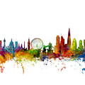 London England Skyline 16x20 Ratio by Michael Tompsett