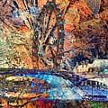 London Eye Abstract by Kusum Vij