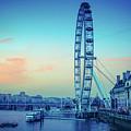 London Eye At Dusk by Lana Enderle