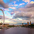 London Eye Evening by Kapuk Dodds