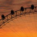 London Eye Sunset by Martin Newman