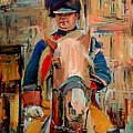 London Guard On Horse by Yury Malkov